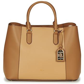 Tassen Dames Handtassen kort hengsel Lauren Ralph Lauren DRYDEN MARCY TOTE Cognac /  camel