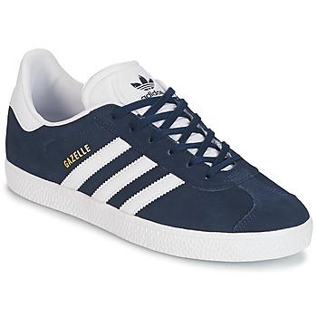 Schoenen Jongens Lage sneakers adidas Originals GAZELLE J Marine