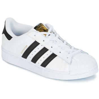 Schoenen Kinderen Lage sneakers adidas Originals SUPERSTAR Wit / Zwart