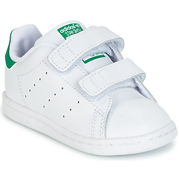 Schoenen Jongens Lage sneakers adidas Originals STAN SMITH CF I Wit / Groen