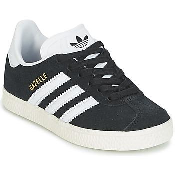 Schoenen Kinderen Lage sneakers adidas Originals GAZELLE C Zwart