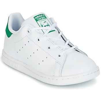 Schoenen Kinderen Lage sneakers adidas Originals STAN SMITH I Wit / Groen