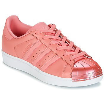 Schoenen Dames Lage sneakers adidas Originals SUPERSTAR Roze