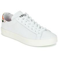 Schoenen Dames Lage sneakers adidas Originals Court Vantage Wit / Bloemen