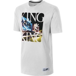 Textiel Heren T-shirts korte mouwen Nike King is King Wit
