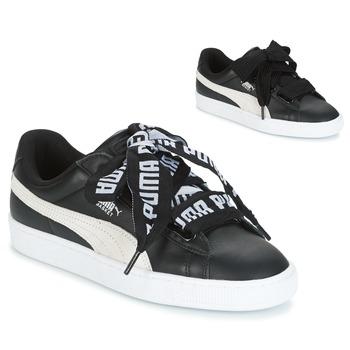 Schoenen Dames Lage sneakers Puma Basket Heart DE Zwart / Wit