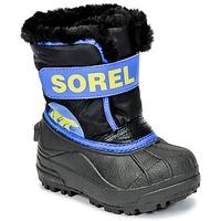 Schoenen Kinderen Snowboots Sorel CHILDRENS SNOW COMMANDER Zwart / Blauw
