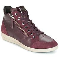 Schoenen Dames Hoge sneakers Geox D MYRIA Bordeaux
