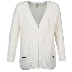 Textiel Dames Vesten / Cardigans Naf Naf MEDEN Ecru