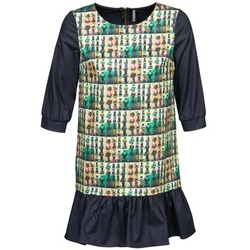 Textiel Dames Korte jurken Naf Naf ECAPS Zwart / Multikleuren