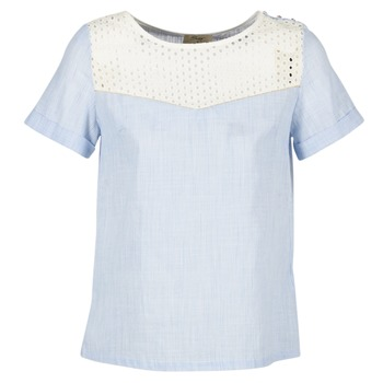 Textiel Dames Tops / Blousjes Betty London GERMA Wit / Blauw