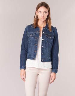Textiel Dames Spijker jassen Levi's ORIGINAL TRUCKER Blauw / Jean