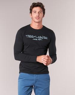 Textiel Heren T-shirts met lange mouwen Teddy Smith TICLASS 3 ML Zwart