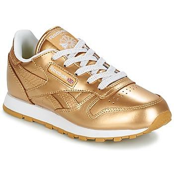 Schoenen Meisjes Lage sneakers Reebok Classic CLASSIC LEATHER MET Goud