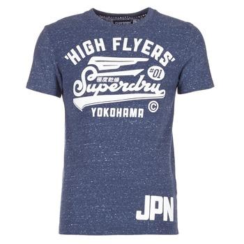 Textiel Heren T-shirts korte mouwen Superdry HIGH FLYERS REWORKED Marine