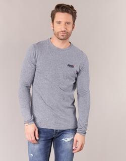 Textiel Heren T-shirts met lange mouwen Superdry ORANGE LABEL VINTAGE Grijs