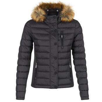 Textiel Dames Dons gevoerde jassen Superdry FUJI SLIM Zwart
