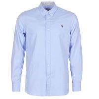 Textiel Heren Overhemden lange mouwen U.S Polo Assn. CALE Blauw