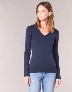 Textiel Dames T-shirts met lange mouwen Petit Bateau LEOSA Marine