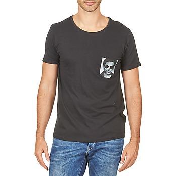 Textiel Heren T-shirts korte mouwen Eleven Paris LENNYPOCK Wit