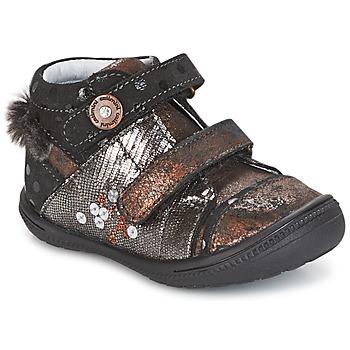 Schoenen Meisjes Laarzen Catimini ROSSIGNOL Zwart /  Cuivré