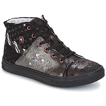 Schoenen Meisjes Hoge sneakers Catimini ROUSSEROLLE Zwart / Zilver