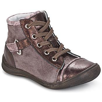 Schoenen Meisjes Laarzen GBB ROMIE Roze / Bordeaux