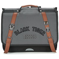 Tassen Jongens Schooltassen Ikks BLACK TIGER CARTABLE 38CM Zwart / Grijs / Brown