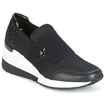 Schoenen Dames Lage sneakers MICHAEL Michael Kors FELIX TRAINER Zwart