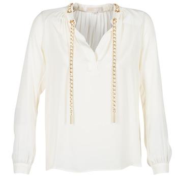 Textiel Dames Tops / Blousjes MICHAEL Michael Kors SLIT L/S CHAIN Creme