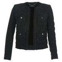 Textiel Dames Jasjes / Blazers MICHAEL Michael Kors FRAY TWD 4PKT JKT Zwart / Zilver