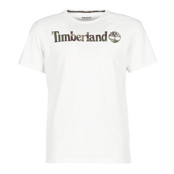 Textiel Heren T-shirts korte mouwen Timberland DUNSTAN RIVER CAMO PRINT Wit