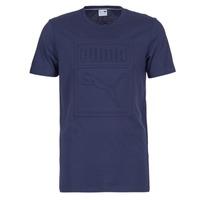 Textiel Heren T-shirts korte mouwen Puma ARCHIVE EMBOSSED LOGO TEE Marine