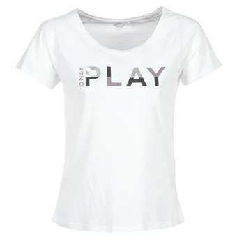 Textiel Dames T-shirts korte mouwen Only Play LINDA Wit