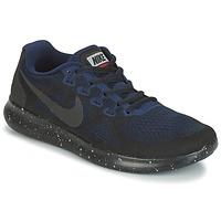 Schoenen Dames Running / trail Nike FREE RUN 2017 SHIELD Zwart / Blauw