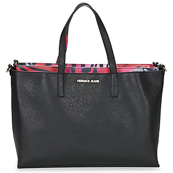 Tassen Dames Tote tassen / Boodschappentassen Versace Jeans ANTALOS Zwart / Rood / Multikleuren