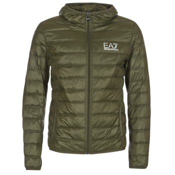 Textiel Heren Dons gevoerde jassen Emporio Armani EA7 TRAIN CORE ID DOWN LIGHT HD Kaki