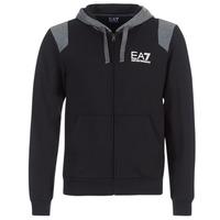 Textiel Heren Sweaters / Sweatshirts Emporio Armani EA7 TRAIN TRITONAL M HOODIE FZ Zwart