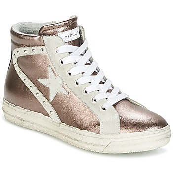 Schoenen Dames Hoge sneakers Meline POLARE Brons