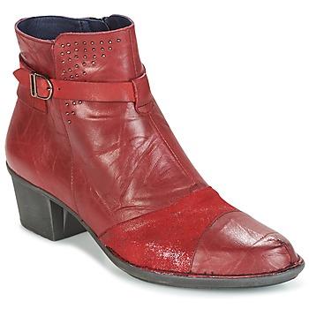 Schoenen Dames Enkellaarzen Dorking DALMA Rood