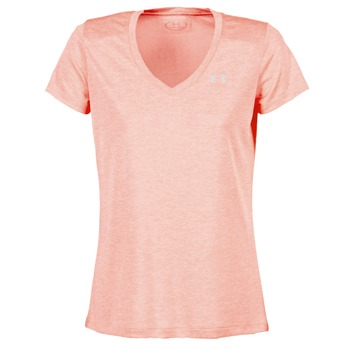Textiel Dames T-shirts korte mouwen Under Armour TECH SSV - TWIST CORAIL