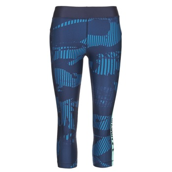 Textiel Dames Leggings Under Armour UA HG ARMOUR GRAPHIC CAPRI Blauw