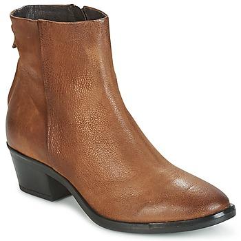Schoenen Dames Laarzen Mjus FRESNO ZIP Brown