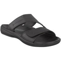 Schoenen Heren Leren slippers Mephisto STAN Zwart