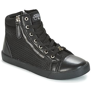 Schoenen Dames Hoge sneakers Le Temps des Cerises KIM Zwart