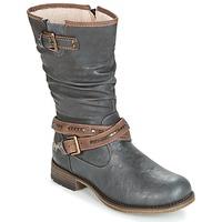 Schoenen Dames Hoge laarzen Mustang ISALBA Graphite