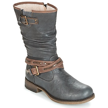 Schoenen Dames Hoge laarzen Mustang ISALBA Grijs
