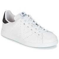 Schoenen Dames Lage sneakers Victoria DEPORTIVO BASKET PIEL Wit / Blauw