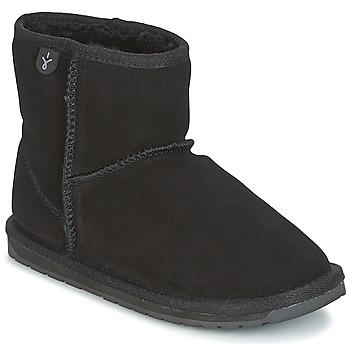 Schoenen Kinderen Laarzen EMU WALLABY MINI Zwart