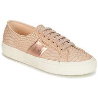 Schoenen Dames Lage sneakers Superga 2750 PU SNAKE W Nude